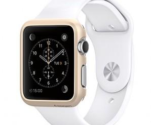 Apple Watch Case, Spigen® [Exact-Fit] Apple Watch 38mm Case Slim **NEW** [Thin Fit] [Champagne Gold] Premium Matte Finish Hard Case for Apple Watch 38mm (2015) – Champagne Gold (SGP11490)