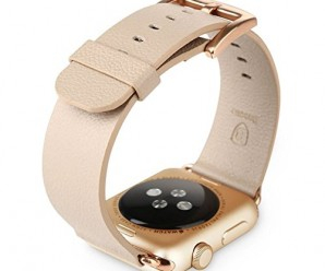 Apple Watch 42mm Premium Genuine Leather Band Wirst Armband Watchband by Soul Cole Ultra Light with Stainless Steel Round Buckle clasp for Apple Watch 42mm