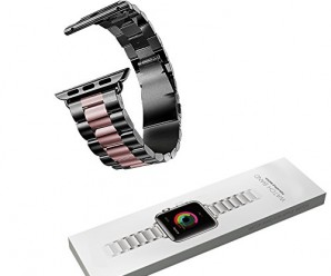 Apple I Watch / Iwatch band chain strap replaceable (Charcoal Black with Rose Gold) Please indicate thru buyer seller message 38 mm or 42mm preferred