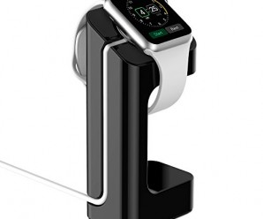 Apple Watch Stand, – Updated Version – JETech® Apple Watch Charging Stand Station Dock Platform for 38/42mm All Models (Black)