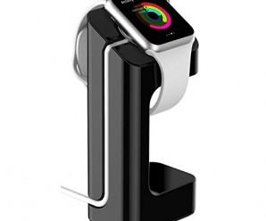 eLander™ Apple Watch Stand, Apple Watch Charging Dock / Station / Platform iWatch Charging Stand Bracket Docking Station Holder for 2015 Apple Watch 38/42mm Sport Edition All Models (Black)