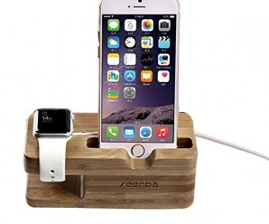 TOOPOOT(TM) Natural Wood Charging Dock Holder for Apple Watch for Iphone 6 Plus 5s