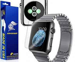 ArmorSuit MilitaryShield – Apple Watch 42mm Screen Protector [Full Screen Coverage] + Full Body Skin Protector / Front + Back Anti-Bubble Ultra HD & Touch Responsive Shield with Lifetime Replacements