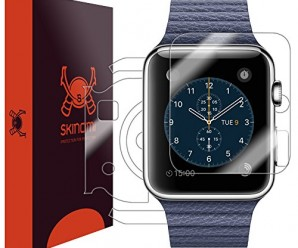 Skinomi® TechSkin – Apple Watch 42mm Full Body Skin Protector with Free Lifetime Replacement / Front & Back Premium HD Clear Film / Ultra High Definition Invisible and Anti-Bubble Crystal Shield