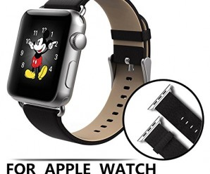 Apple Watch Band W Metal Clasp, Aerb Genuine Leather Strap Wrist Band for Apple Watch & Sport & Edition [Compare to Classic Buckle & Modern Buckle] – 42mm Black