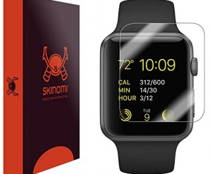 Skinomi® TechSkin [6 Pack] – Apple Watch 38mm Screen Protector [Full Screen Coverage + WaterProof] Premium HD Clear Film with Free Lifetime Replacement Warranty / Ultra High Definition Invisible and Anti-Bubble Crystal Shield – Retail Packaging