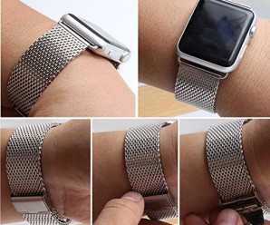 MyCell 38mm Milanese Loop Stainless Steel Mesh Replacement Band for Apple Watch