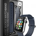 Apple Watch Strap Band – E LV Apple Watch 42MM – (100% GENUINE LEATHER) Strap Band High Quality Premium Strap Band Accessories for Apple Watch 42MM with [ADAPTER] to install – DARK BLUE