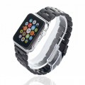 Apple Watch Band,Mydeal 24mm Stainless Steel Bracelet Smart Watch Band Strap Wrist Band With Silver Metal Adapter Clasp For Apple Watch & Sport & Edition iWatch 42mm – Black