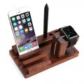 Apple Watch Stand, Aerb Newest Rose Wood Charge Station Bracket Docking Holder for Apple Watch, iPhone & iPad – Compatible With All Versions of Apple Watch, iPhone & iPad