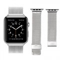 Apple Watch Band, LROO® Stainless Steel Mesh Replacement Strap Wrist Band w/ Metal Clasp Classic for Apple Watch & Sport & Edition (Silver – Big Mesh-38mm)