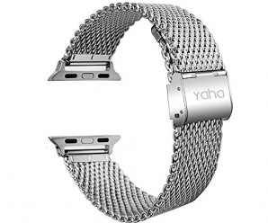 38mm Stainless Steel Watchband Yaha® Metal Strap Classic Buckle Adapter Watch Bands for Apple Watch Sport (Thick 38mm)