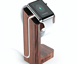 Apple Watch Stand, PODIUM by Optium for Apple Watch 38mm & 42mm holds Apple Watch at safe and convenient angle, [Charging Cable NOT Included]