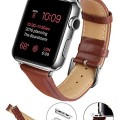 Apple Watch Band, LoHi(TM) 38mm Genuine Leather Replacement Watchband Strap Wrist Band Modern Buckle with Metal Clasp for Apple Watch & Sport & Edition All Models (38mm-Brown)