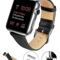 Apple Watch Band, LoHi(TM) 42mm Genuine Leather Replacement Watchband Strap Wrist Band Modern Buckle with Metal Clasp for Apple Watch & Sport & Edition All Models (42mm-Black)