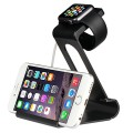 Apple Watch Stand, Sparin Aluminum Dual Charge Station and Stand for Apple Watch & iPhone, [With Premium Stylus Pen], Black