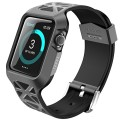 Apple Watch Case, i-Blason Unity Series Premium Hybrid Protective Bumper Protective Case for Apple Watch 42 mm 2015 Release [Not Compatible with 38 mm] (Black)