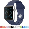 FanTEK Soft Silicone Sport Style Strap for Apple Wrist Watch 42mm M/L – Midnight Blue