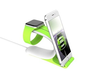 LOCA Apple Watch Stand, LOCA Apple Watch Charging Stand /Charging Dock Cradle Holder. For Apple Watch 38mm and 42mm. Flexible Bracket for iPhone, iPad, kindle, Tablets & Other Devices(Green)