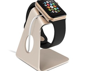 Apple Watch Stand, ZVOLTZ [Watch Charging Dock] Gold Stand for Apple Watch Standard / Sport / Edition 38mm and 42mm; Easy View Charging Dock / Stand (Charger Not Included)