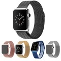 Apple Watch Band,Teslasz® 42mm Mesh Replacement Strap Stainless Steel Milanese Loop Strap Magnetic Buckle Wrist Band for Apple iWatch All Models (Black 42 MM)