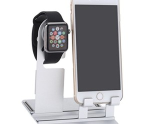 iWonow® Aluminum Charger Holder Stand Detachable Charging Bracket Dock Docking Station for Apple Watch iWatch iPhone iPad Smartphones