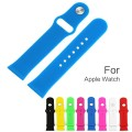 Apple Watch Band, KOMEI Soft Silicone Replacement Sport Bands iWatch Strap for Apple Watch / Watch Sport (42mm)(Blue)