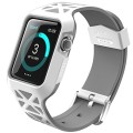 Apple Watch Case, i-Blason Unity Series Premium Hybrid Protective Bumper Protective Case for Apple Watch 38 mm 2015 Release [Not Compatible with 42 mm] (White)