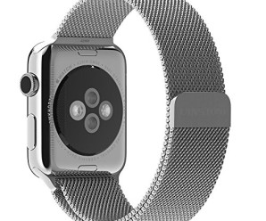 Apple Watch Band,UINSTONE 42mm Milanese Loop Stainless Steel Bracelet Smart Watch Strap for Apple Watch All Models With Unique Magnet Lock No Buckle Needed – SILVER