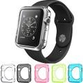 Apple Watch Case, Konsait Flexible Premium Soft TPU Transparent Full Body Apple Watch Cover [5 Color Combination Pack] for Apple Watch 42mm Version