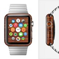 The Bright Red Ebony Woodgrain Full Wrap Skin Set for the Apple Watch