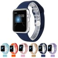 Apple Watch Replacement Band,Teslasz Soft Silicone Replacement Sports Wristbands Straps for Apple iWatch All Models(Dark blue 42 MM)