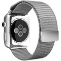 Apple Watch Band, Aerb Milanese Loop Stainless Steel Bracelet Strap Band W Unique Magnet Clasp for Apple Watch 42mm All Models [No Buckle Needed] – 42mm – Silver