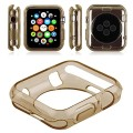 Soft TPU Silicone Slim Protect Guard Case Cover for Apple Watch iWatch 38mm brown