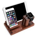 Orange®3 in 1 Creative Stand for Apple Watch Iphone Ipad Rosewood Watch Charging Stand Iphone Ipad Display Stand Pen Holder (Wood)