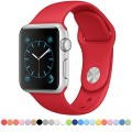 Apple Watch Band – FanTEK Soft Silicone Sport Style Replacement iWatch Strap for Apple Wrist Watch 42mm Models M/L Size (Red)