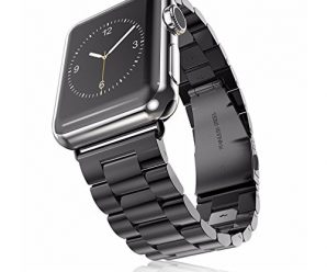 Apple Watch 42mm Band, Infiland Stainless Steel Metal Replacement Strap Wrist Band for Apple Watch & Sport & Edition version 42mm – Black