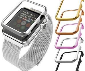 Apple Watch Case(38MM), Bandmax Lightweight Platinum Plated Hard Protective Case for Apple Watch/Watch Sport/Watch Edition(Without Screen Cover)