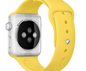 Apple Watch Band, Perman Sports Comfort Smooth Silicone Replacement Smart Watch Bracelet Strap Band Watchband for Apple Watch 42mm Yellow
