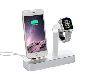 Kinbashi® Charging / Sync Dock Station For Apple Watch and iPhone ( + 5 Feet Lightning to USB Cable )