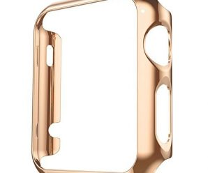 Apple Watch Case, Fose Plated Cover Case Slim Premium Super Exact Fit Plastic Cover Snap On Hard Protective Case for Apple Watch – Retro Gold 42mm
