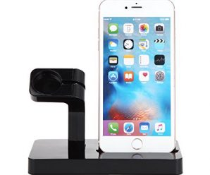 iPhone Watch Charging Stand, VONOTO Multifunction iPhone Watch Charging Stand Holder Charge Dock for Watch,iPhone 6 / 6s / 6 PLUS / 7 (Black)