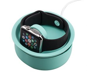 Apple Watch Stand, Pugo Top Apple Watch Charging Dock Silicone Both 38mm and 42mm, Green