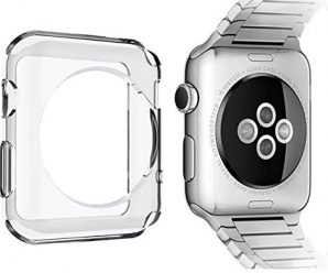 Flux Apple Watch Case Chrono Series Premium Shock Absorbing Crystal Clear Gel, TPU Bumper Case for Apple Watch (42mm) (38mm)