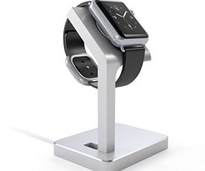 Satechi Apple Watch Stand, Aluminum Charging Dock Apple Watch Charging Stand Station iWatch Charger Bracket with Comfortable Viewing Angle for Apple Watch 42mm & 38mm All Models (Silver)
