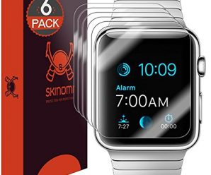 Apple Watch 42mm Screen Protector, Skinomi® TechSkin (Updated Version)(6-Pack) Full Coverage Screen Protector for Apple Watch 42mm Clear HD Anti-Bubble Film – with Lifetime Warranty