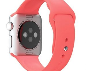 Apple Watch Replacement Band – Valuebuybuy Soft Silicone Replacement Sports Wristbands Straps for Apple Wrist Watch iWatch All Models Formal Colors S/M Size-42mm/Pink
