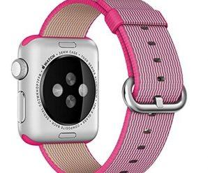 Apple Watch band, Oitom® Woven Nylon Watch Band Strap (Pink, Apple Watch 38mm)