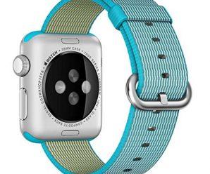 Apple Nylon Watchbands-Valuebuybuy Sports Royal Woven Nylon Wrist Band Strap Bracelet For 38mm Apple Watch Fits 129-195mm wrists-Scuba Blue