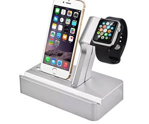 Apple Charging Stand ISTYLE® 3-in-1 Charging Station for iWatch, iPad and iPhone, Apple Power Station Aluminum Alloy Charging Dock Stand Holder Cradle